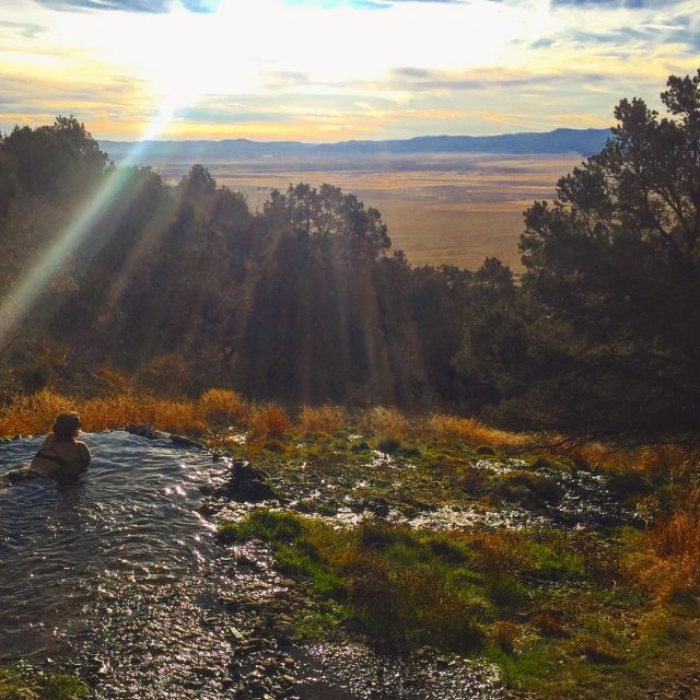 Secret hot springs overlooking the incredible San Luis valley hellip